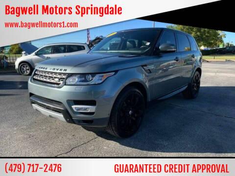 2014 Land Rover Range Rover Sport for sale at Bagwell Motors Springdale in Springdale AR