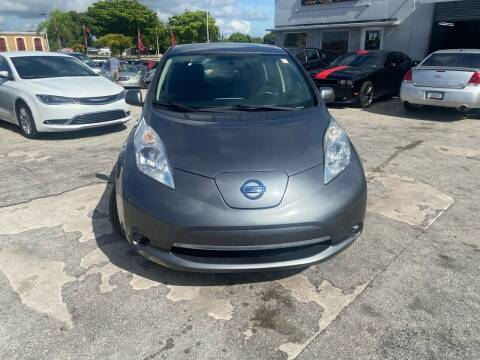 2015 Nissan LEAF for sale at America Auto Wholesale Inc in Miami FL