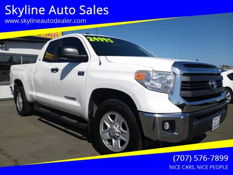 2015 Toyota Tundra for sale at Skyline Auto Sales in Santa Rosa CA