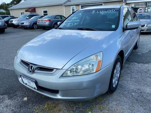 2004 Honda Accord for sale at Volare Motors in Cranston RI