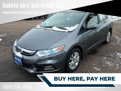 2013 Honda Insight for sale at Dakota Cars and Credit LLC in Sioux Falls SD