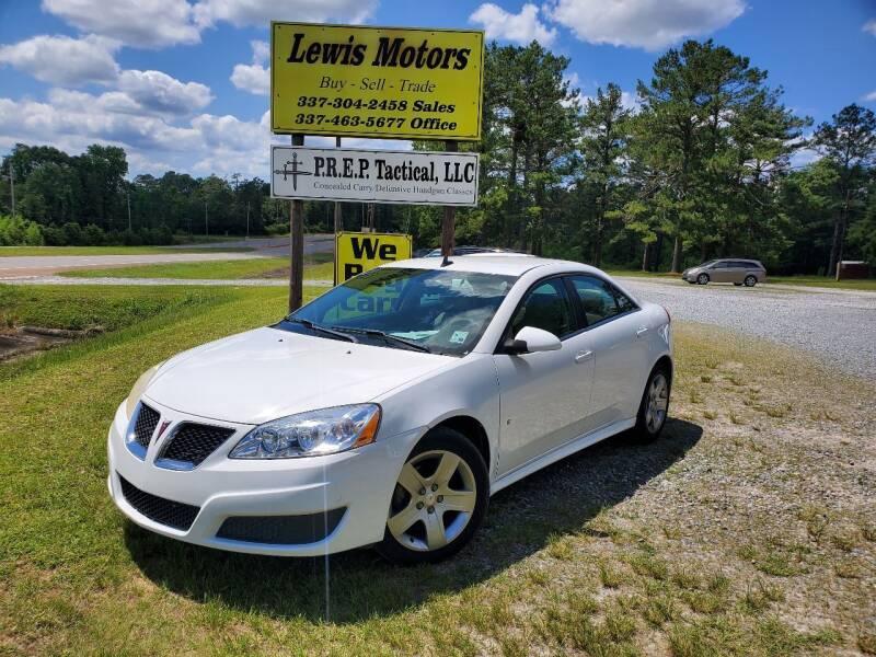 2009 Pontiac G6 for sale at Lewis Motors LLC in Deridder LA