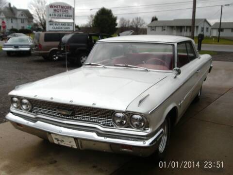 1963 Ford Galaxie for sale at Whitmore Motors in Ashland OH