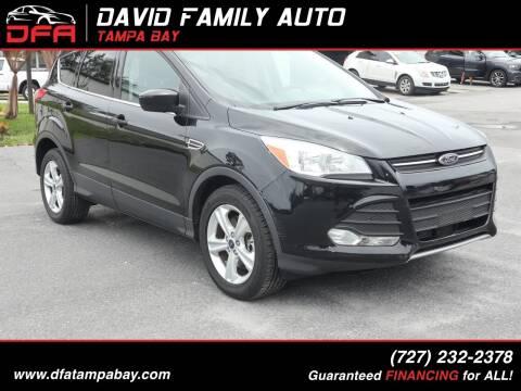 2016 Ford Escape for sale at David Family Auto in New Port Richey FL