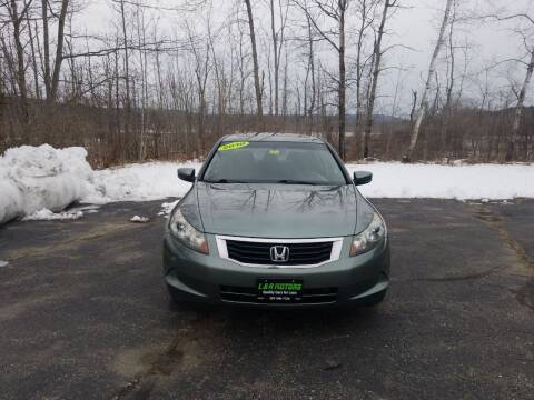 2010 Honda Accord for sale at L & R Motors in Greene ME