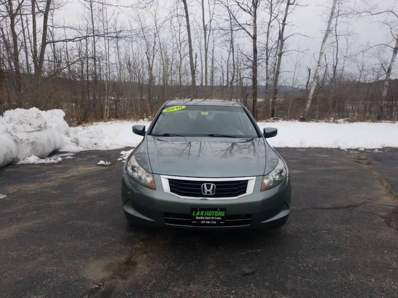 2010 Honda Accord for sale at L & R Motors in Greene ME