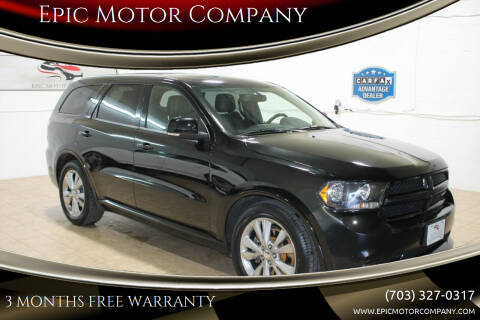 2012 Dodge Durango for sale at Epic Motor Company in Chantilly VA
