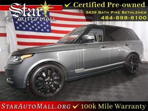 2017 Land Rover Range Rover for sale at STAR AUTO MALL 512 in Bethlehem PA