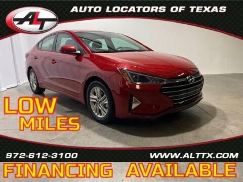 2020 Hyundai Elantra for sale at AUTO LOCATORS OF TEXAS in Plano TX