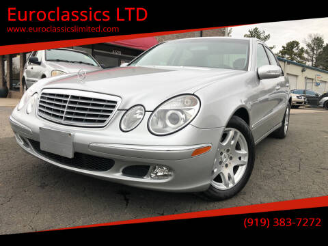 2003 Mercedes-Benz E-Class for sale at Euroclassics LTD in Durham NC