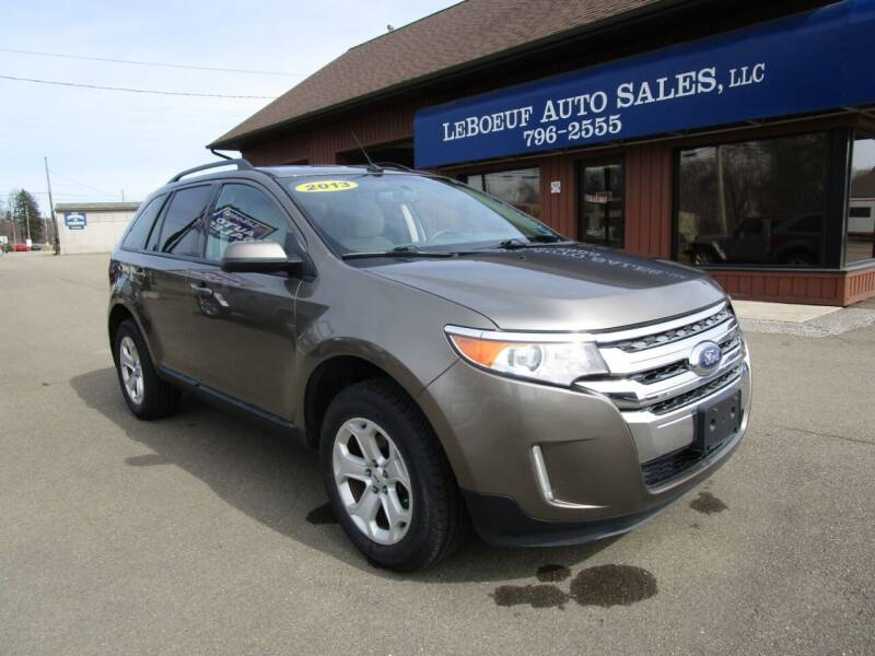 2013 Ford Edge for sale at LeBoeuf Auto Sales in Waterford PA