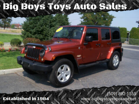 2014 Jeep Wrangler Unlimited for sale at Big Boys Toys Auto Sales in Spokane Valley WA