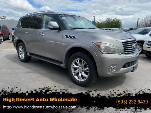 2011 Infiniti QX56 for sale at High Desert Auto Wholesale in Albuquerque NM