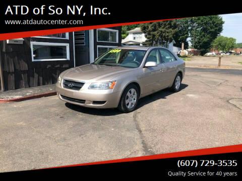 2008 Hyundai Sonata for sale at ATD of So NY, Inc. in Johnson City NY