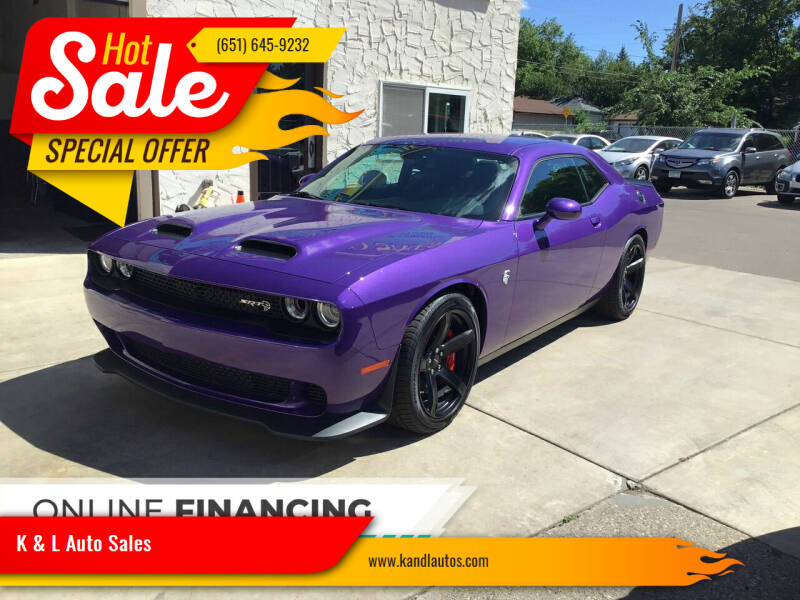 2019 Dodge Challenger for sale at K & L Auto Sales in Saint Paul MN