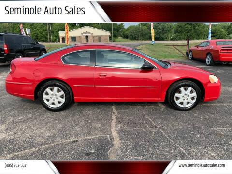 2004 Chrysler Sebring for sale at Seminole Auto Sales in Seminole OK