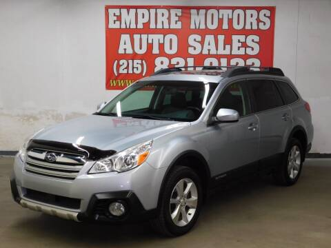 2013 Subaru Outback for sale at EMPIRE MOTORS AUTO SALES in Philadelphia PA
