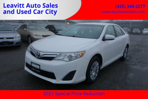 2013 Toyota Camry for sale at Leavitt Auto Sales and Used Car City in Everett WA