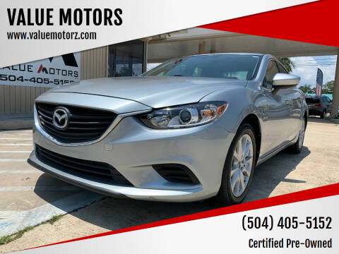 2016 Mazda MAZDA6 for sale at VALUE MOTORS in Kenner LA