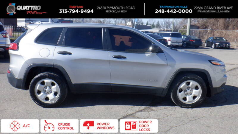 2015 Jeep Cherokee for sale at Quattro Motors 2 in Farmington Hills MI