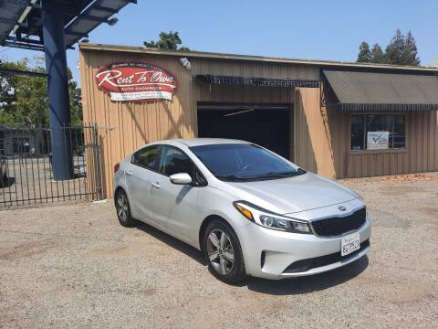 2018 Kia Forte for sale at Rent To Own Auto Showroom LLC - Finance Inventory in Modesto CA