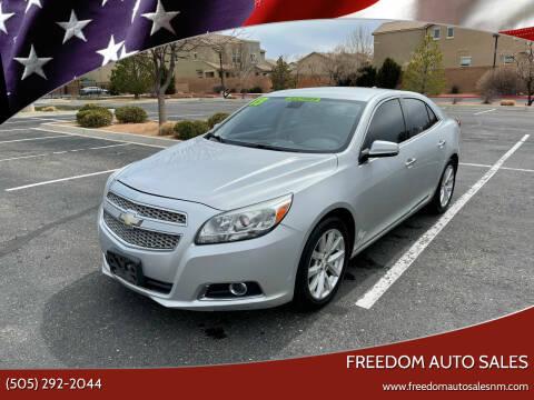2013 Chevrolet Malibu for sale at Freedom Auto Sales in Albuquerque NM