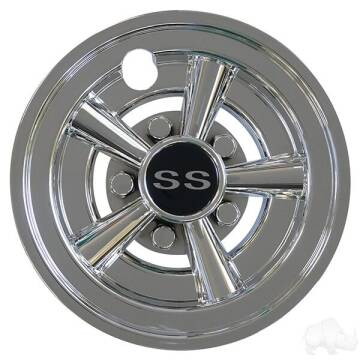 "2021 Wheel Cover, 8"" SS Chrome Wheel Cover, 8"" SS Chrome for sale at 70 East Custom Carts Atlantic Beach - parts and accessories in Atlantic Beach NC"