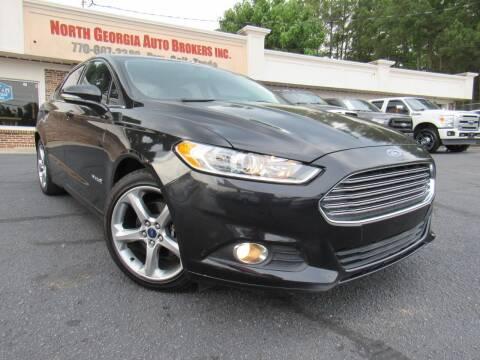 2014 Ford Fusion Hybrid for sale at North Georgia Auto Brokers in Snellville GA