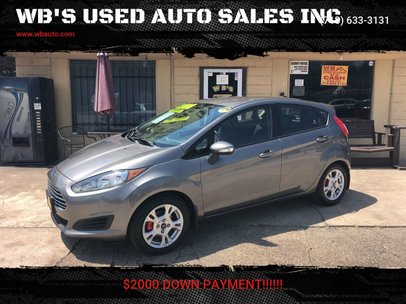 2014 Ford Fiesta for sale at WB'S USED AUTO SALES INC in Houston TX