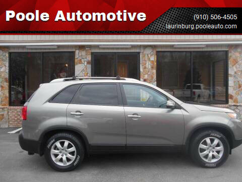 2012 Kia Sorento for sale at Poole Automotive in Laurinburg NC