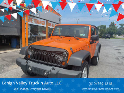 2012 Jeep Wrangler for sale at Lehigh Valley Truck n Auto LLC. in Schnecksville PA