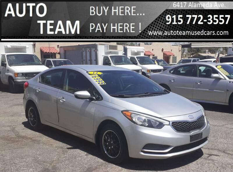 2014 Kia Forte for sale at AUTO TEAM in El Paso TX