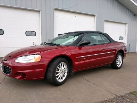 2001 Chrysler Sebring for sale at OLBY AUTOMOTIVE SALES in Frederic WI