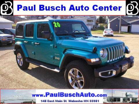 2020 Jeep Wrangler Unlimited for sale at Paul Busch Auto Center Inc in Wabasha MN