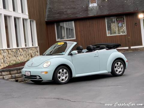 2003 Volkswagen New Beetle Convertible for sale at Cupples Car Company in Belmont NH