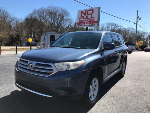 2011 Toyota Highlander for sale at No Full Coverage Auto Sales in Austell GA