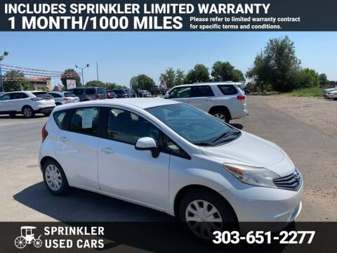 2014 Nissan Versa Note for sale at Sprinkler Used Cars in Longmont CO
