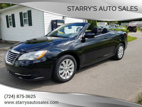 2013 Chrysler 200 Convertible for sale at STARRY'S AUTO SALES in New Alexandria PA
