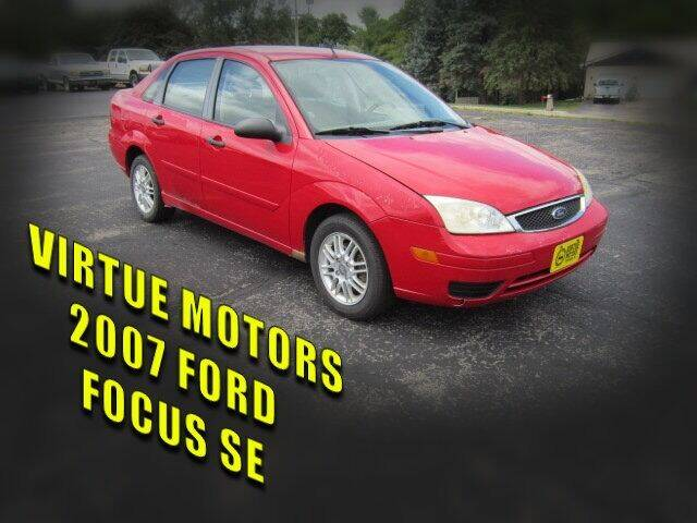 2007 Ford Focus for sale at Virtue Motors in Darlington WI