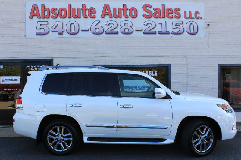 2013 Lexus LX 570 for sale at Absolute Auto Sales in Fredericksburg VA