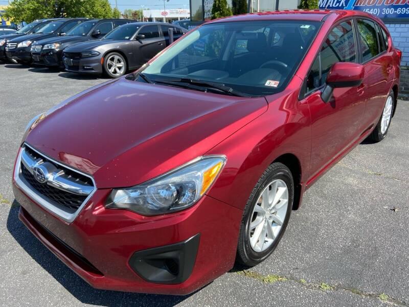 2013 Subaru Impreza for sale at Mack 1 Motors in Fredericksburg VA