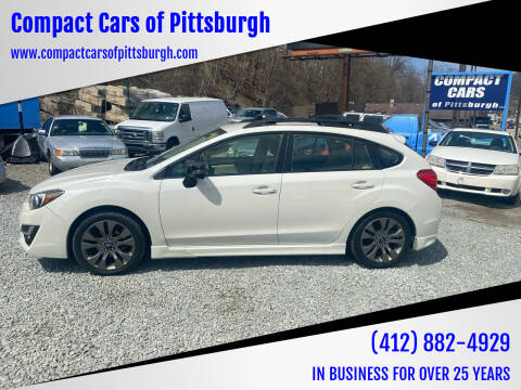 2016 Subaru Impreza for sale at Compact Cars of Pittsburgh in Pittsburgh PA