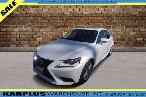 2016 Lexus IS 200t for sale at Karplus Warehouse in Pacoima CA