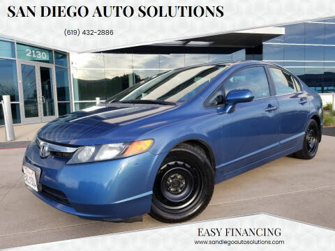 2007 Honda Civic for sale at San Diego Auto Solutions in Escondido CA
