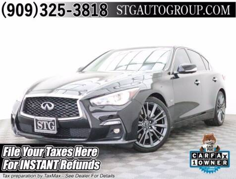2018 Infiniti Q50 for sale at STG Auto Group in Montclair CA