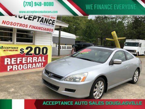 2006 Honda Accord for sale at Acceptance Auto Sales Douglasville in Douglasville GA
