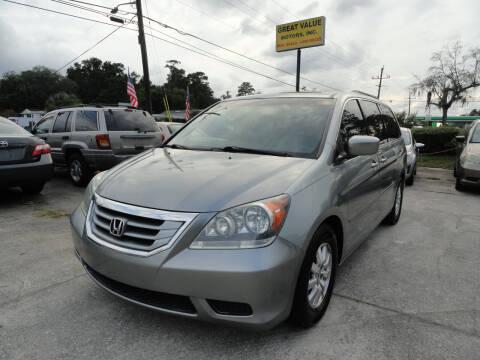 2008 Honda Odyssey for sale at GREAT VALUE MOTORS in Jacksonville FL