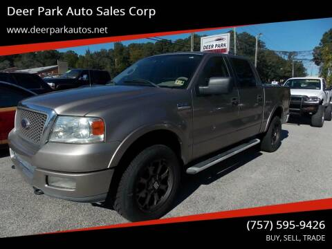 2005 Ford F-150 for sale at Deer Park Auto Sales Corp in Newport News VA