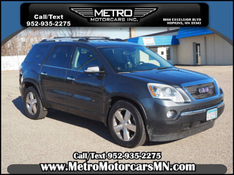 2011 GMC Acadia for sale at Metro Motorcars Inc in Hopkins MN