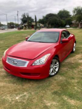 2010 Infiniti G37 Convertible for sale at Carzready in San Antonio TX